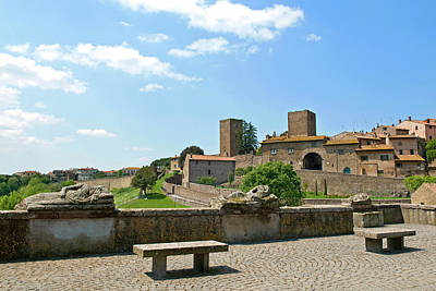 View Of Tuscania From Bastianini Square Art Print