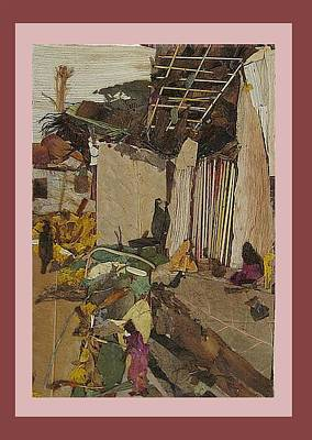 The Trees Mixed Media - Village Corner  by Basant Soni