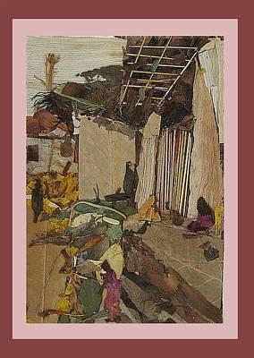 Bark Mixed Media - Village Corner  by Basant Soni