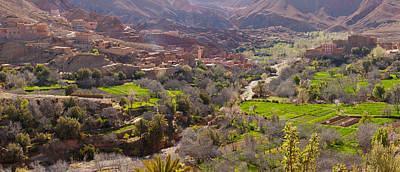 Moroccan Photograph - Village In The Dades Valley, Dades by Panoramic Images
