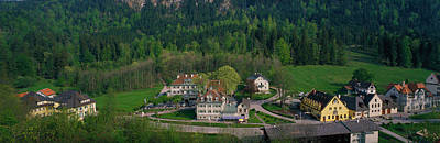 Village Of Hohen-schwangau, Bavaria Art Print by Panoramic Images