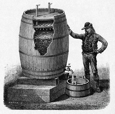 Vinegar Production, 19th Century Art Print by CCI Archives