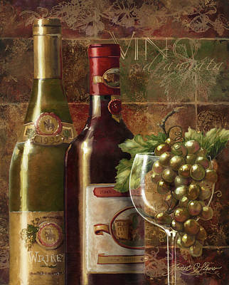Americana Licensing Painting - Vino D'annata by Janet Stever