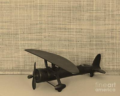 Cockpit Photograph - Vintage Airplane by Marsha Heiken