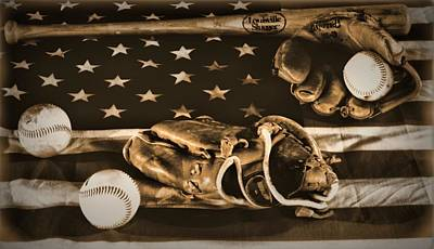 Vintage Baseball Art Print by Dan Sproul
