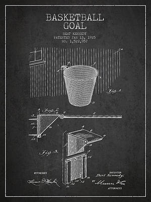 Basketball Goal Patent Digital Art - Vintage Basketball Goal Patent From 1925 by Aged Pixel