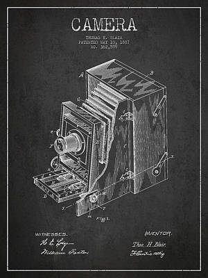 Camera Digital Art - Vintage Camera Patent Drawing From 1887 by Aged Pixel