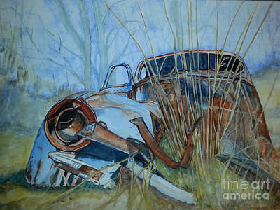 Painting - Vintage Car Left Behind by DJ Laughlin