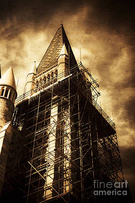Photograph - Vintage Church Column Construction by Jorgo Photography - Wall Art Gallery