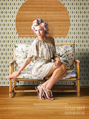 Photograph - Vintage Fashion Photo Of A Sexy Blond Woman  by Jorgo Photography - Wall Art Gallery