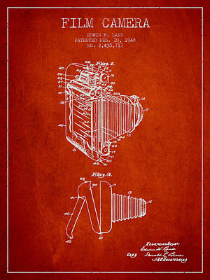 Vintage Camera Wall Art - Digital Art - Vintage Film Camera Patent From 1948 by Aged Pixel