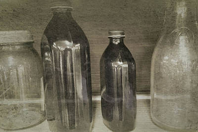 Photograph - Vintage Glassware by Bonnie Bruno