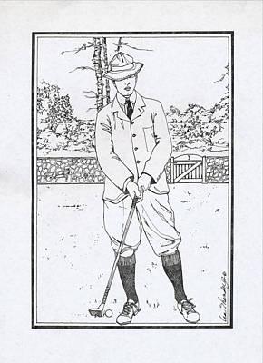 Vintage Golfer Original by Ira Shander