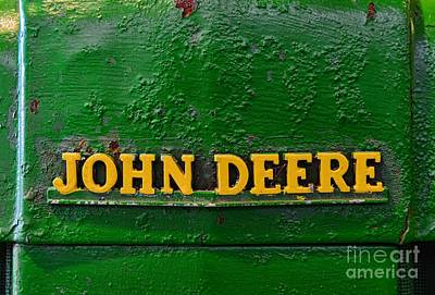 Antique Tractors Photograph - Vintage John Deere Tractor by Paul Ward