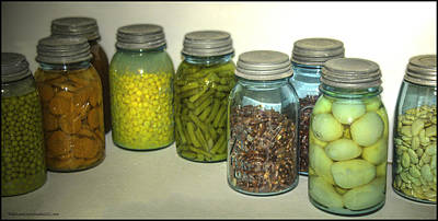 Glass Photograph - Vintage Kitchen Glass Jar Canning by LeeAnn McLaneGoetz McLaneGoetzStudioLLCcom