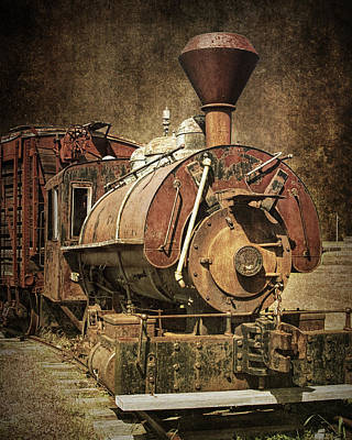 Vintage Locomotive Train Engine Print by Randall Nyhof