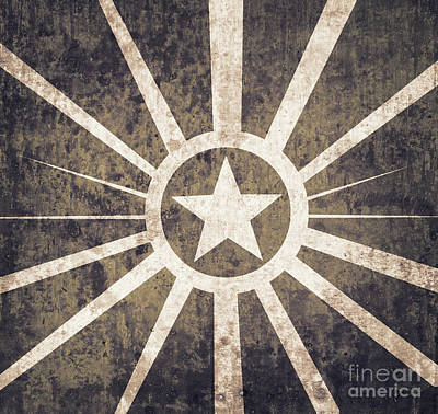 Digital Art - Vintage Military Star Background  by Jorgo Photography - Wall Art Gallery