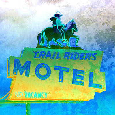 Photograph - Vintage Motel Sign  by Ann Powell