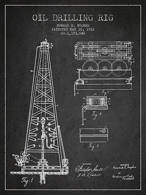 Landmarks Royalty Free Images - Vintage Oil drilling rig Patent from 1916 Royalty-Free Image by Aged Pixel