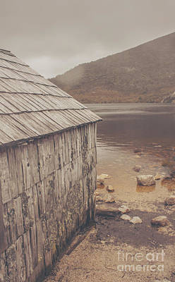 Vintage Photo Of An Australian Boat Shed Art Print