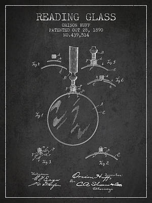 Magnified Digital Art - Vintage Reading Glass Patent From 1890 by Aged Pixel