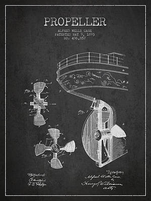 Vintage Ship Propeller Patent From 1893 Print by Aged Pixel