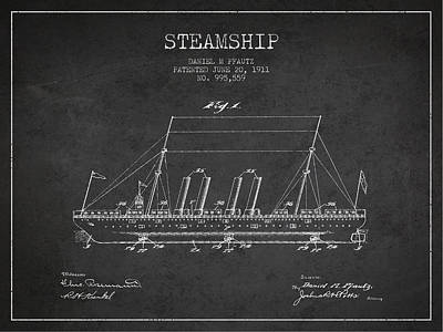 Vintage Steamship Patent From 1911 Print by Aged Pixel