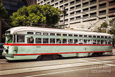 San Francisco Embarcadero Photograph - Vintage Streetcar San Francisco by Colin and Linda McKie