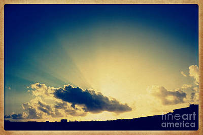 Photograph - Vintage Style Miracle Of A Sunrise by Beverly Claire Kaiya