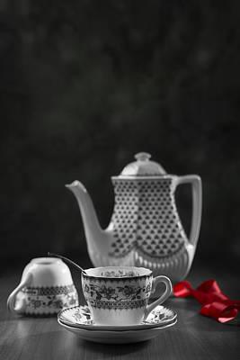 Vintage Teacups Art Print