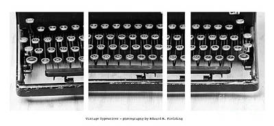 Antique Typewriter Photograph - Vintage Typewriter by Edward Fielding