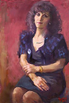 Teacher Painting - Viola  by Ylli Haruni