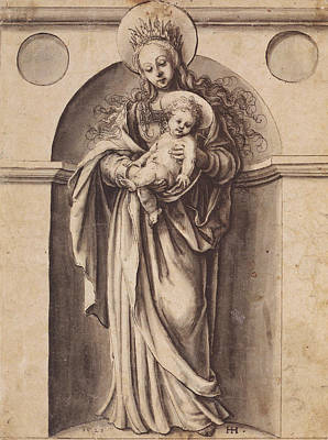 Virgin And Child Art Print by