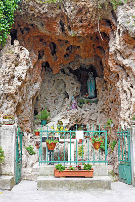 Photograph - Virgin Mary Grotto by Borislav Marinic