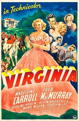 1941 Movies Photograph - Virginia, Us Poster,  Madeleine Carroll by Everett