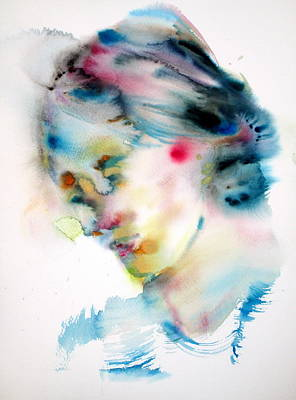 Woolf Painting - Virginia Woolf -watercolor Portrait by Fabrizio Cassetta