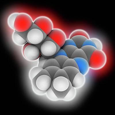 Vitamin B2 Riboflavin Molecule Art Print