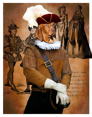 Painting - Vizsla Art Canvas Print - Hunter by Sandra Sij
