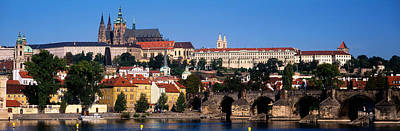 Prague Castle Photograph - Vltava River, Prague, Czech Republic by Panoramic Images