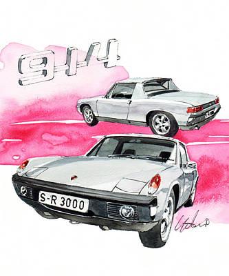 Vw Painting - Vw Porsche 914/8 by Yoshiharu Miyakawa