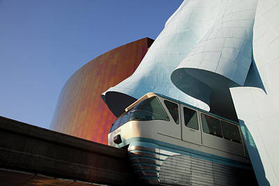 Monorail Photograph - Wa, Seattle, Seattle Center, Monorail by Jamie and Judy Wild
