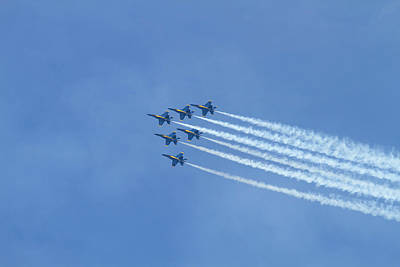 Wa, Seattle, The Blue Angels Art Print by Jamie and Judy Wild