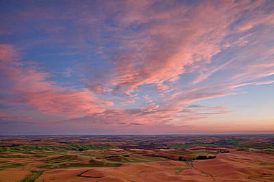 Whitmans Photograph - Wa, Whitman County, Palouse Farmland by Jamie and Judy Wild