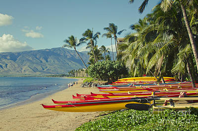 Sugar Beach Kihei Maui Hawaii  Print by Sharon Mau