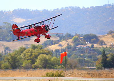 Photograph - Waco Ymf Fly-by N685af by John King
