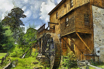 Wade's Mill Art Print by Kathy Jennings