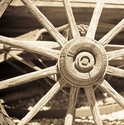 Old Western Photograph - Wagon Wheel by Gilbert Artiaga