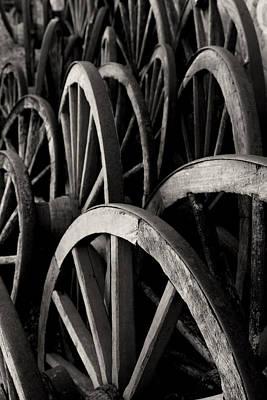 Wagon Wheels Art Print by John Nelson