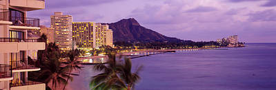 Waikiki Beach, Oahu, Hawaii, Usa Art Print by Panoramic Images