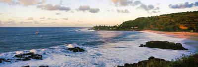Waimea Bay At Sunset, Oahu, Hawaii, Usa Art Print by Panoramic Images